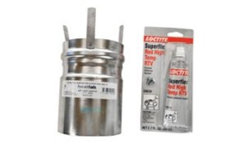 """Pentair 4"""" Stainless Steel Appliance Adapter for Horizontal or Vertical Positive Pressure by Heatfab 
