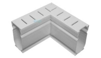 Stegmeier Deck Drain 90 Degree Angle | White | D9W