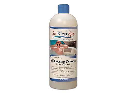 SeaKlear Spa Self-Floccing Defoamer | 1 Quart | SKF-W-Q