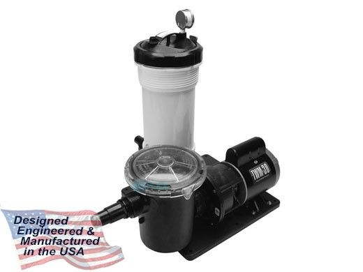 Waterway TWM-30 Above Ground Cartridge Filter System   1/8HP Pump with Trap 25 Sq. Ft. Filter   520-4070