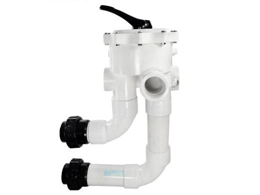 """Waterway 2"""" FPT Multiport Valve with Union Connections for D.E. Filters 