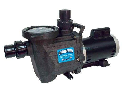 Waterway Champion 56-Frame 1HP Energy Efficient Full Rated Pool Pump | 115/230V | CHAMPE-110