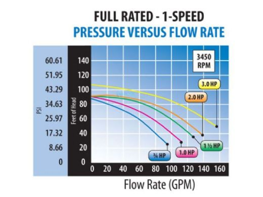Waterway Champion 56-Frame 3HP Energy Efficient Full Rated Pool Pump 230V | CHAMPE-130