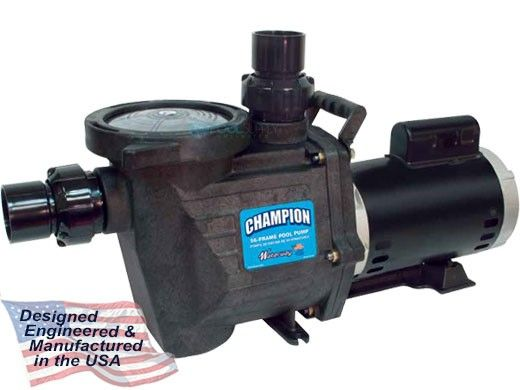 Waterway Champion 56-Frame 2HP Standard Efficiency Maximum Rated Pool Pump 115/230V | CHAMPS-120