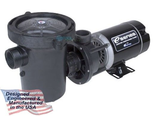 Waterway Center Discharge 48-Frame 1.5HP Above Ground 2-Speed Pool Pump 115V | Jacuzzi Style Threads | 3' Twist Lock Cord | 3420612-1524