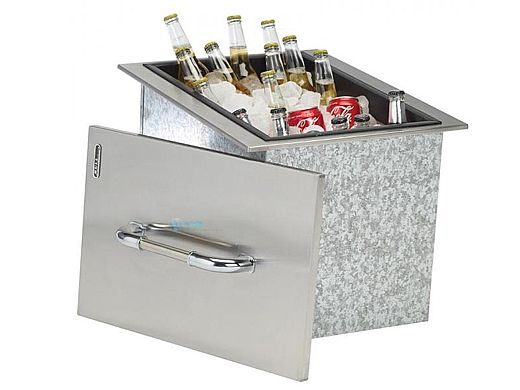 Bull Outdoor Products Ice Chest with Cover and Drain | Stainless Steel Drop-In | 00002
