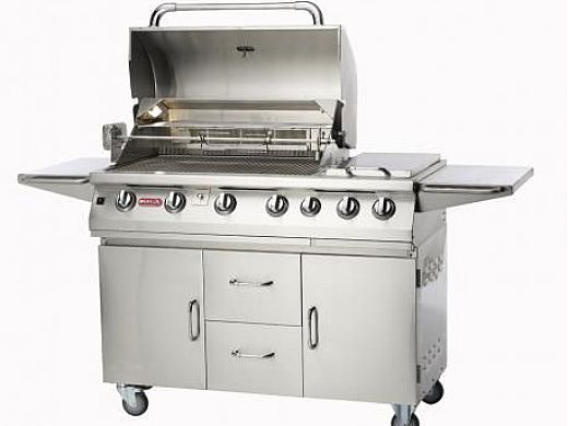 Bull Barbecue Longhorn 47 7 Burner Stainless Steel Propane Cart With Lights 28368
