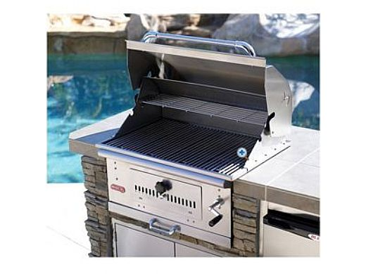 Bull Barbecue Bison 30 Charcoal Stainless Steel Built In Barbeque