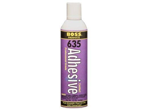 Boss 635 Wall Foam Spray Adhesive   12 OZ.   635C-10