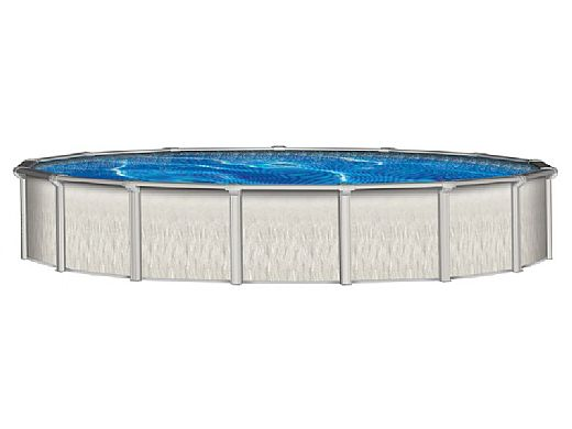 """Barbados 15' Round 52"""" Steel Wall Pool with Skimmer 