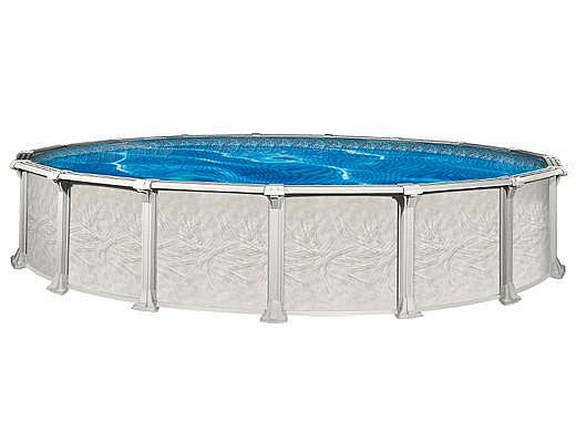 """St Tropez 24' Round 54"""" Wall Pool with Skimmer 