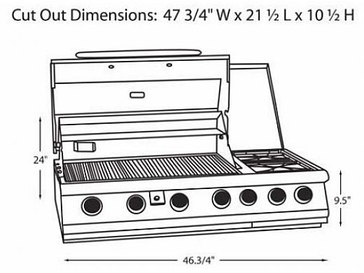 Bull Barbecue 7 Burner Stainless Steel Built In Natural