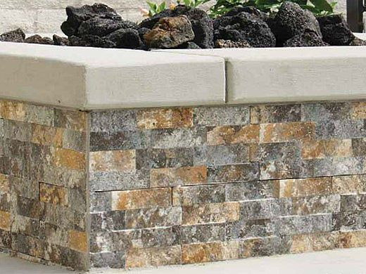 National Pool Tile Sim. Stackstone 6x16 Corner Tile   Rust Multicolor   SST-RUST CNR