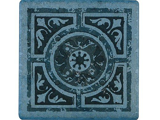 National Pool Tile Catania 6x6 Series   Ocean Blue Deco NW   CATBLUE DECONW