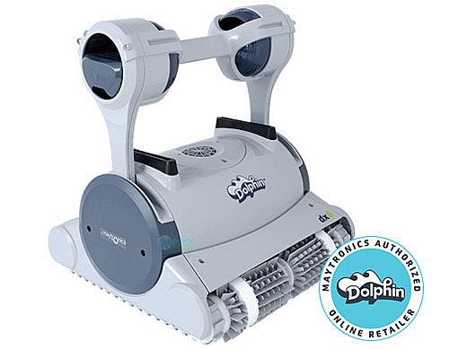Maytronics Dolphin DX6 Robotic Residential Pool Cleaner with Caddy | 99996369-DX6