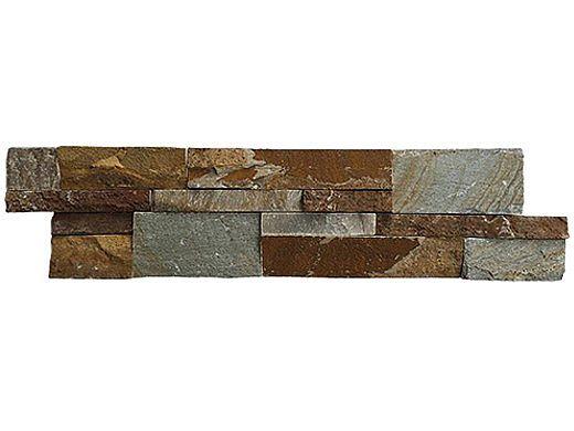 National Pool Tile Natural Ledgerstone 6x24 | Rust | LDGR-RUST