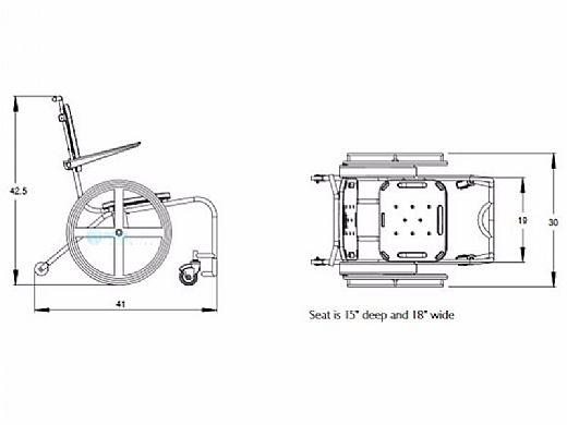 SR Smith Mobile Aquatic Chair | AC0000