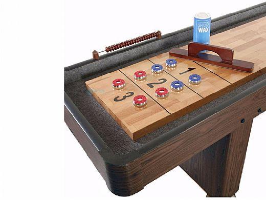 Hathaway Challenger 12-Foot Shuffleboard Table | Walnut Finish | NG1212 BG1212