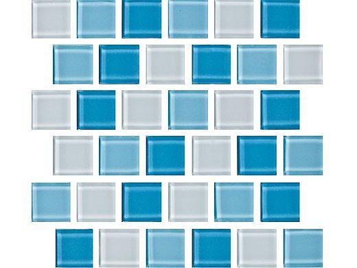 National Pool Tile Allure 1x1 Glass Tile | Caribbean | 201-035