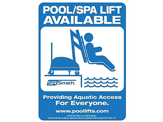 SR Smith Pool Lift Available Sign | 900-5000
