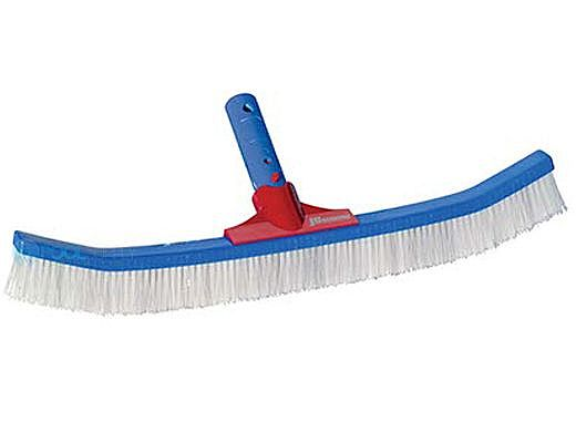"""Pool Pals 18"""" JC Red Deluxe SS & Poly Bristle Combo Brush 