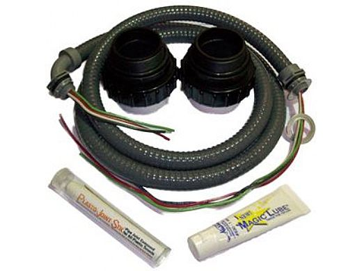 """Pump Installation Kit 2"""" with Two Universal Pump Unions, Conduit & Wire, Magic Lube, & Thread Sealant"""
