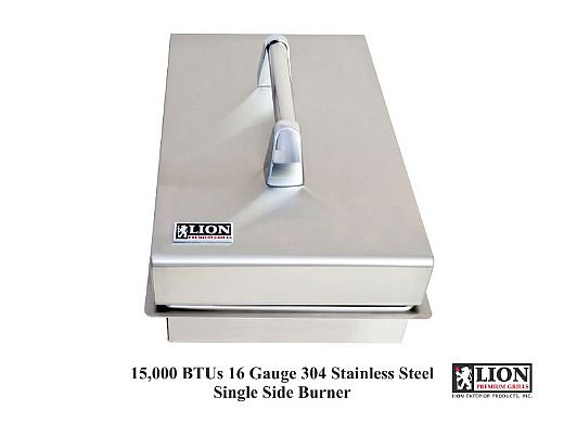 Lion Premium Grills Stainless Steel Single Side Burner Propane   L6247