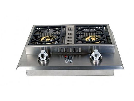 Lion Premium Grills Stainless Steel Double Side Burner ...
