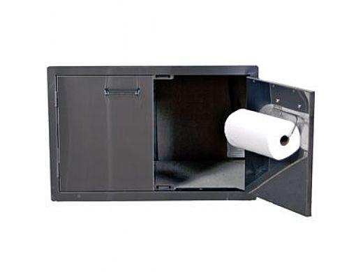Lion Premium Grills Stainless Steel Double Door with Towel Rack   L3322