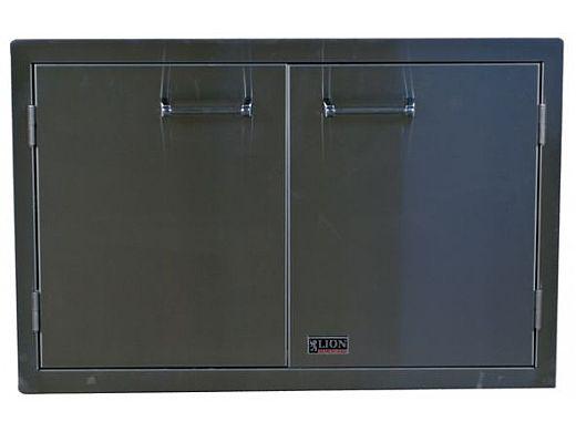 Lion Premium Grills Stainless Steel Double Door with Towel Rack | L3322