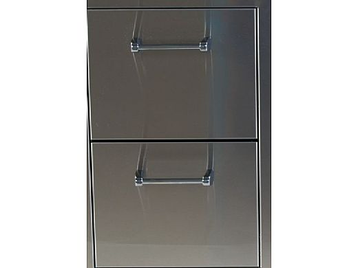 Lion Premium Grills Stainless Steel Double Drawer | L2374