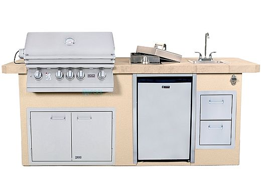 Lion Premium Grill Islands Resort Q with Stucco Natural Gas | 90109NG