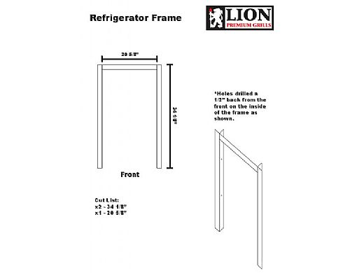 Lion Premium Grills Stainless Steel Refridgerator Frame | 32923