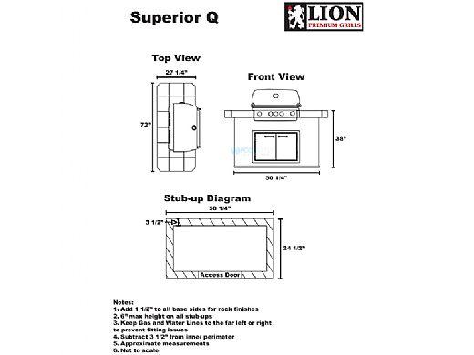 Lion Premium Grill Islands Superior Q Natural Gas | 90101NG