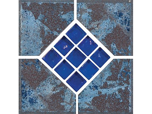 National Pool Tile Verona 6x6 Series | Tondela Blue Deco | VR681 DECO