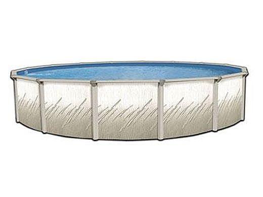 "Pretium 12' Round Above Ground Pool - 52"" Steel Wall Pool Assy with Widemouth Skimmer   PPREGLX-1252SSSTSSFBO"