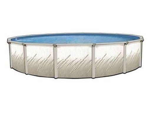 "Pretium 24' Round 52"" Steel Wall Pool Assy Only w/ Skimmer & Return   Pool Only   PPREGLX-2452SSSTSSFB0"