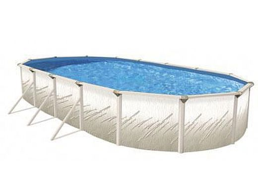 "Pretium 15'X30' Oval 52"" Steel Wall Pool Assy Only w/ Skimmer & Return | Pool Only | PPREGLXDUN-CH153052SSSTSSFB0-WS"
