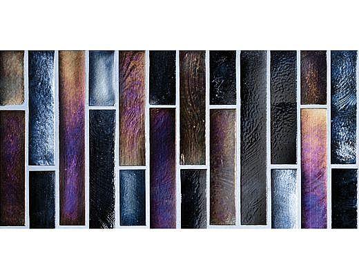National Pool Tile Oceanscapes 6x12 Vertical Stick Glass | Blackies | OCN-BLACKIES VS6