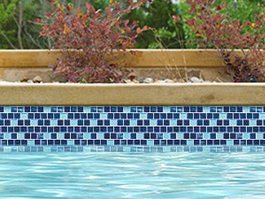 National Pool Tile Aquascapes 1x1 Glass Tile  | Azure | OCN-AZURE