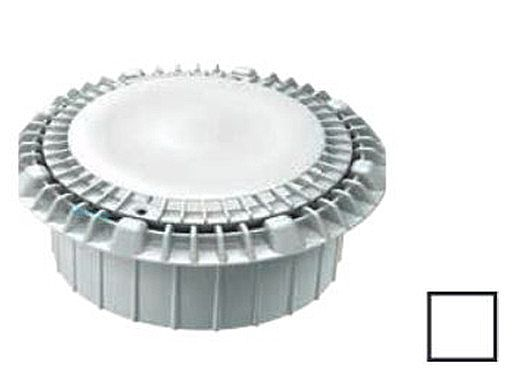 """AquaStar 8"""" Round Low Profile Anti-Entrapment Suction Outlet Cover with Double Deep Frame   White   LP8AVWR101A"""