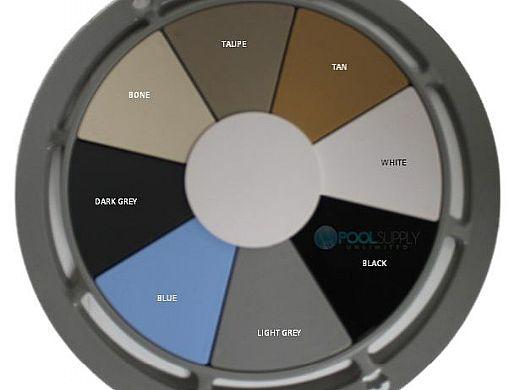 AquaStar 8'' Star Anti-Entrapment Cover, Solid Riser Ring and Double   Deep Frame with 4'' Spigot Sump Bucket (VGB Series) Tan   A8R108C