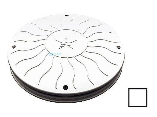 "AquaStar 10"" Round Debris Catcher Suction Outlet Cover and Mud Frame (VGB Series) | White | 10LT101"