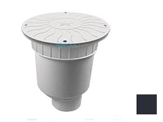 "AquaStar 10"" Round Debris Catcher Suction Outlet Cover with Double Deep Sump Bucket with 4"" Spigot (VGB Series) Black   10LT102C"