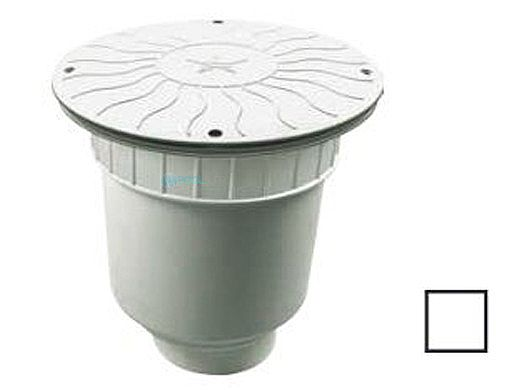 """AquaStar 10"""" Round Debris Catcher Anti-Entrapment Suction Outlet Cover with Double Deep Sump Bucket with 4"""" Socket  (VGB Series) 