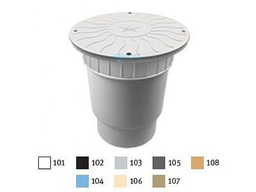 "AquaStar 10"" Round Debris Catcher Suction Outlet Cover with Double Deep Sump Bucket with 6"" Spigot (VGB Series) Black   10LT102E"