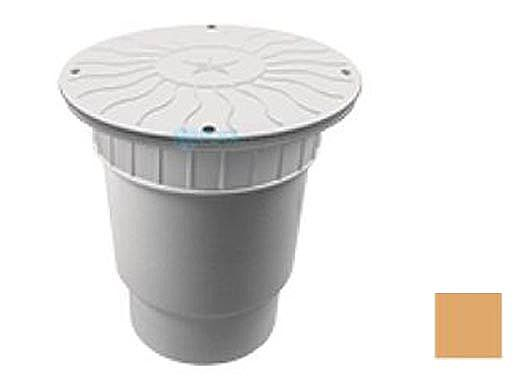 "AquaStar 10"" Round Debris Catcher Suction Outlet Cover with Double Deep Sump Bucket with 6"" Spigot (VGB Series) Tan | 10LT108E"