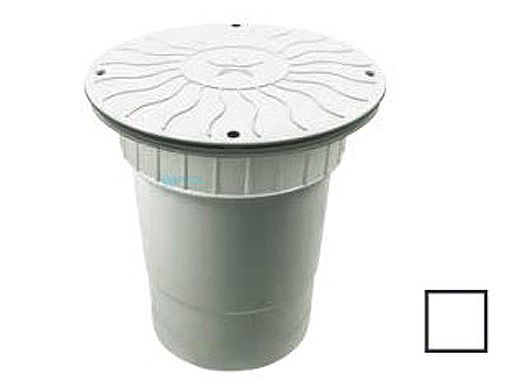 """AquaStar 10"""" Round Debris Catcher Anti-Entrapment Suction Outlet Cover with Double Deep Sump Bucket with 6"""" Socket  (VGB Series)   White   10LT101F"""
