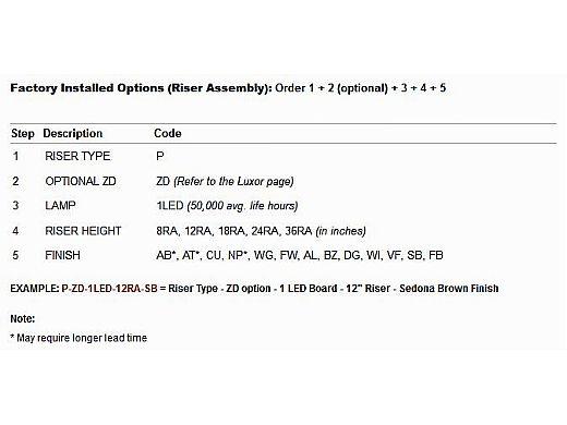 """FX Luminaire BD LED Pathlight   Copper Finish   12"""" Riser   BD-1LED-12R-CU KIT"""