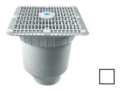 "AquaStar 9"" Wave Grate  & Vented Riser Ring with Double Deep Sump Bucket with 4"" Socke 